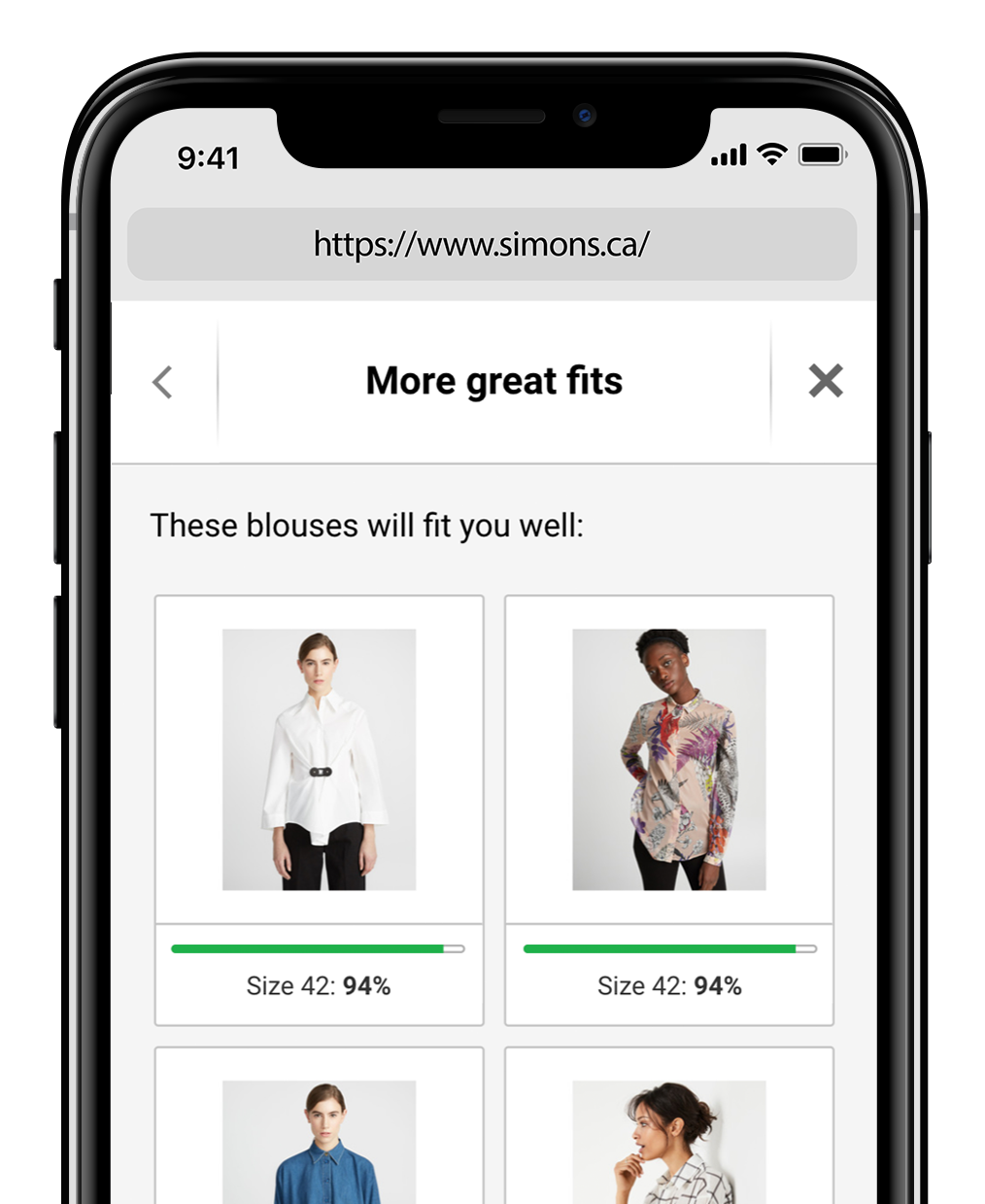 Fit Finder - the world's most accurate apparel size advisor